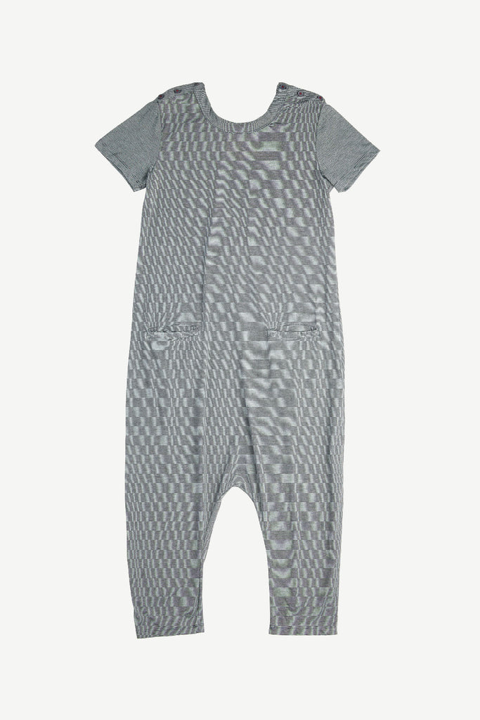 Blue Stripe T-Shirt Jumpsuit