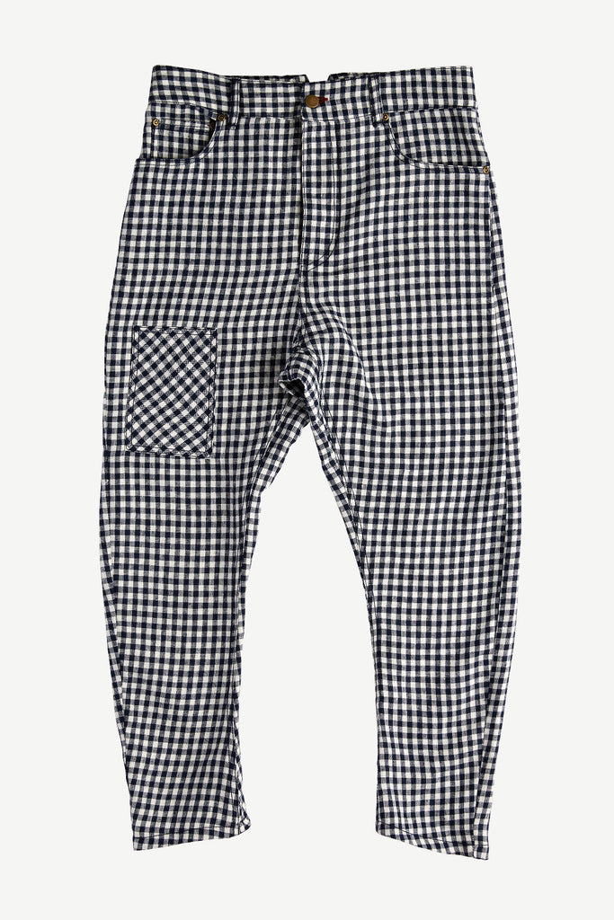 Jordy Pant Navy Plaid