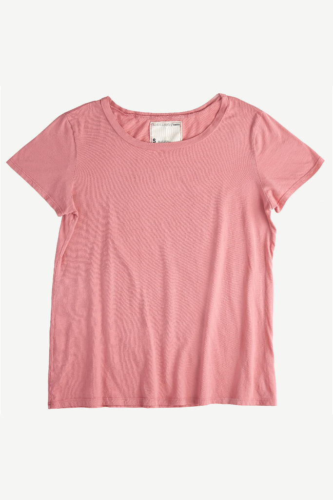 Faircloth Supply Relaxed Tee Rose Gender Neutral Sustainable Fashion Shirt