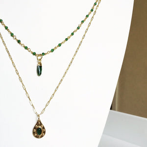 Collier multirang HIALEAH - Plaqué or