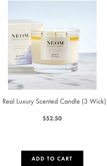 real luxury candle