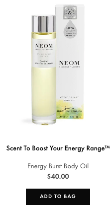 energy burst body oil