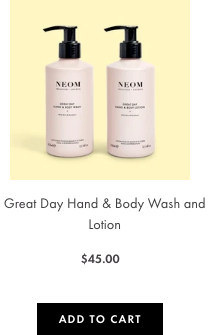 great day wash and lotion