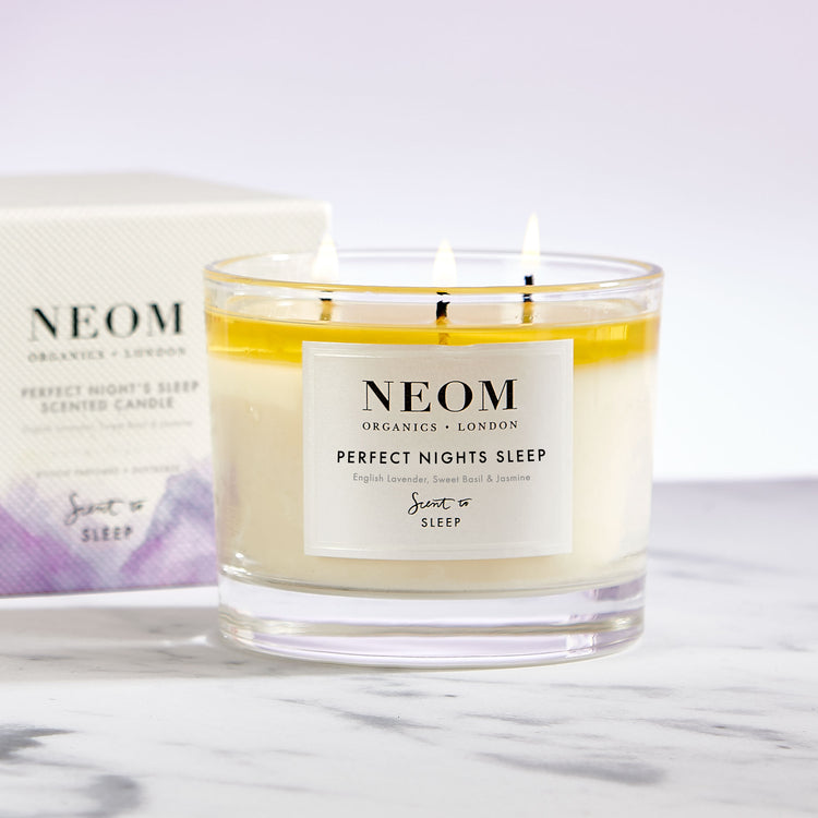 perfect night's sleep 3 wick candle marble