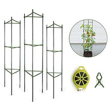Load image into Gallery viewer, GROWNEER 3-Pack Plant Cages Assembled Tomato Garden Cages Stakes Vegetable Trellis, with 9Pcs Clips and 328Ft Twist Tie, for Vertical Climbing Plants