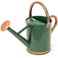 Best Choice Products 1-Gallon Lightweight Galvanized Steel Gardening Watering Can w/O-Ring, Top Handle, and Copper Accents, Green
