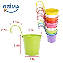 Load image into Gallery viewer, Ogima 10 Piece Metal Iron Hanging Flower Pots, Multicolor