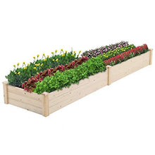 Load image into Gallery viewer, Patiomore 8 Feet Outdoor Wooden Garden Bed Planter Box Kit for Vegetables Fruits Herb Grow Yard Gardening, Natural