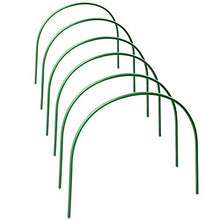 "Load image into Gallery viewer, F.O.T 6Pcs(25.6"" x 23.6"") Greenhouse Hoops,Plant Support Garden Stakes, Rust-Free Grow Tunnel 4.9ft Long Steel with Plastic Coated Support Hoops Frame for Garden Fabric, Plant Support Garden Stakes"