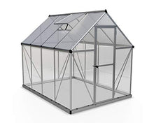 Load image into Gallery viewer, Palram HG5508 Hybrid Hobby Greenhouse, 6' x 8' x 7', Silver