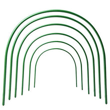 Load image into Gallery viewer, ASSR 6Pack Greenhouse Support Hoops, 4ft Long Steel Plastic Coated Hoops Garden Grow Tunnel