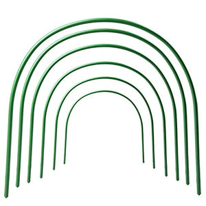 ASSR 6Pack Greenhouse Support Hoops, 4ft Long Steel Plastic Coated Hoops Garden Grow Tunnel