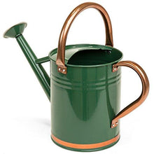 Load image into Gallery viewer, Best Choice Products 1-Gallon Lightweight Galvanized Steel Gardening Watering Can w/O-Ring, Top Handle, and Copper Accents, Green
