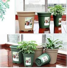 Load image into Gallery viewer, TRUEDAYS 10 PCS 1 Gallon Plastic Garden Flower Pots Seeding Plant Container Nursery Pot with Saucers Green
