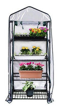 "Load image into Gallery viewer, Gardman R687 4-Tier Mini Greenhouse, 27"" Long x 18"" Wide x 63"" High"