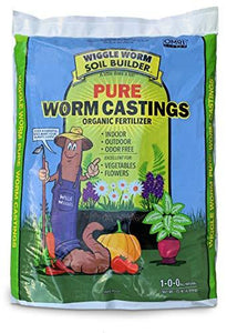Unco Industries (WWSB15LB) Wiggle Worm Soil Builder Earthworm Castings Organic Fertilizer, 15-Pound