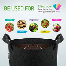 Load image into Gallery viewer, VIVOSUN 5-Pack 5 Gallon Grow Bags Heavy Duty 300G Thickened Nonwoven Plant Fabric Pots with Handles