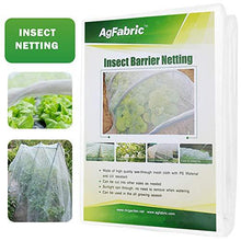 Load image into Gallery viewer, Agfabric 6.5'x15' of Mesh Netting Standard Insect Screen & Garden Netting Against Bugs, Birds & Squirrels, White
