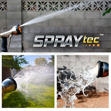 Load image into Gallery viewer, SprayTec Garden Hose Nozzle Sprayer – Heavy Duty Metal Spray Gun w/Pistol Grip Trigger. 9 Adjustable Patterns Best for Hand Watering Plants & Lawn, Car Washing, Patio, Dog & More. Leak Free Guarantee