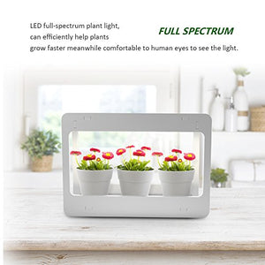 GrowLED Plant Grow Light LED Indoor Garden Light, Kitchen Garden with Timer Function, 24V Low Safe Voltage, Ideal for Plant Grow Novice Or Enthusiasts, Various Plants, DIY Decoration, White Grow Light