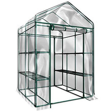 Load image into Gallery viewer, Home-Complete HC-4202 Walk-In Greenhouse- Indoor Outdoor with 8 Sturdy Shelves-Grow Plants, Seedlings, Herbs, or Flowers In Any Season-Gardening Rack