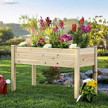 Load image into Gallery viewer, Best Choice Products Raised Garden Bed 48x24x30-inch Elevated Wood Planter Box Stand for Backyard, Patio, Natural