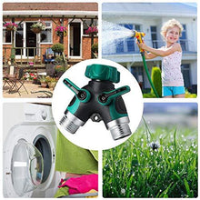 Load image into Gallery viewer, Haneye Hose Splitter, Garden 2 Way Hose Connector, Water Hose Splitter with Shut Off Valve, 3/4 Connector, Y Hose Connector for Garden and Home (3 Free Washers)