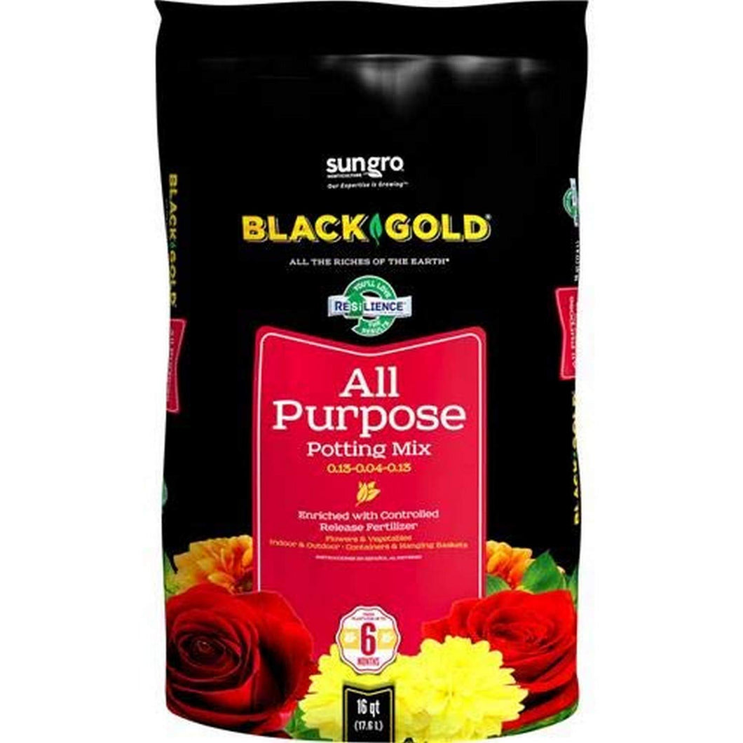 Black Gold 1310102 16-Quart All Purpose Potting Soil With Control