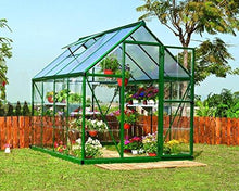 Load image into Gallery viewer, Palram HG5508G-1B Hybrid Hobby Greenhouse, 6' x 8' x 7', Forest Green