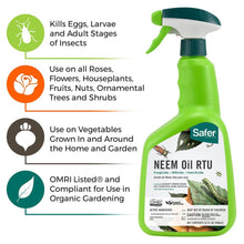 Load image into Gallery viewer, Safer 5180-6 Neem Oil Ready-to-Use Brand Fungicide, 1 Pack