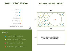 Small Veggie Garden Seasonal Subscription (Billed Monthly)