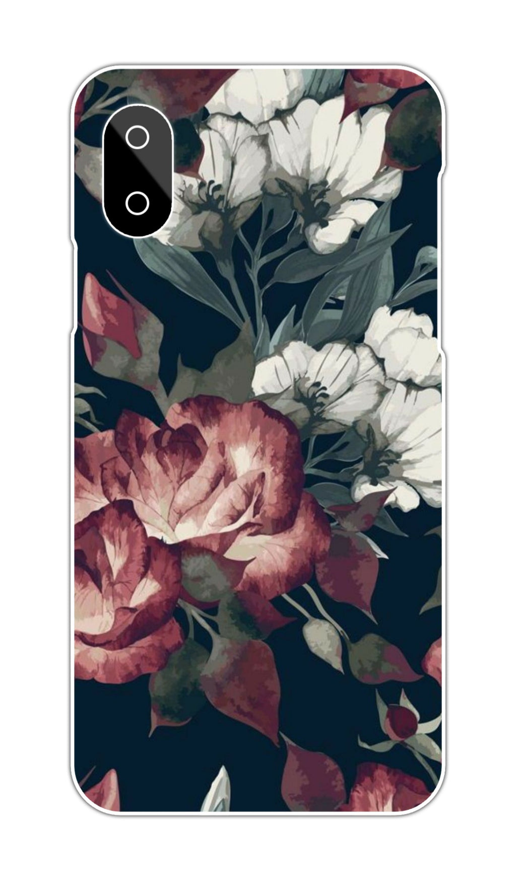 WHITE-RED ROSES CASE