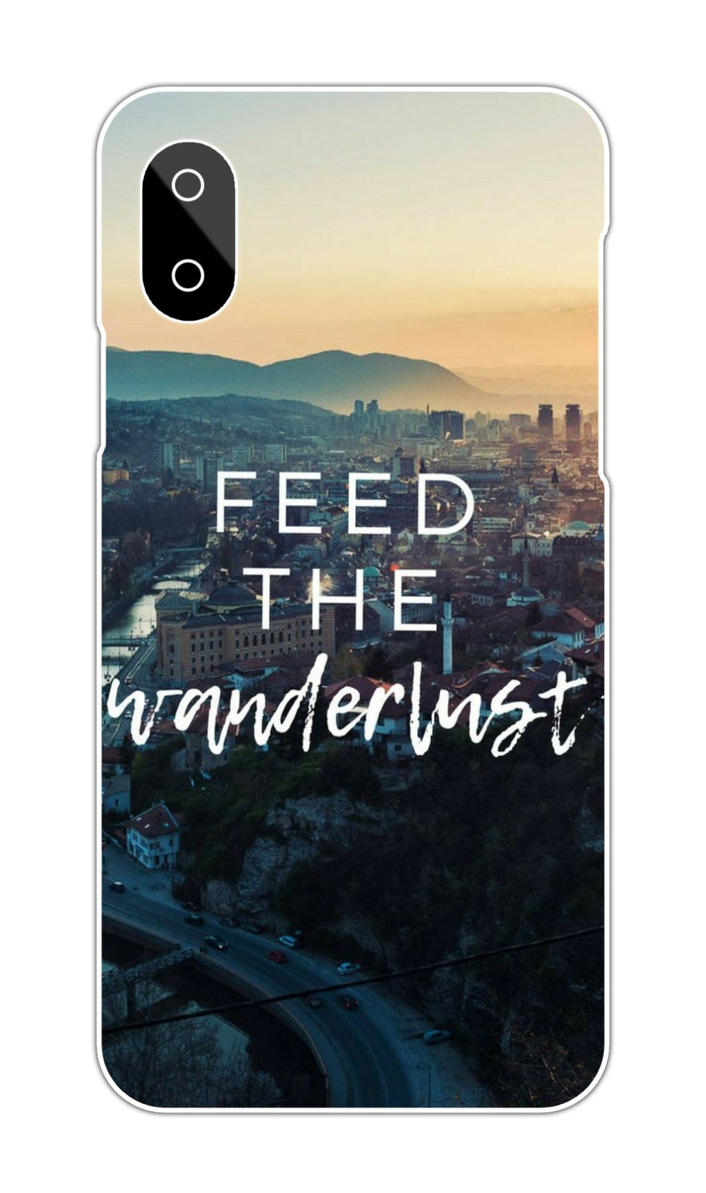 FEED THE WANDERLUST QUOTE CASE
