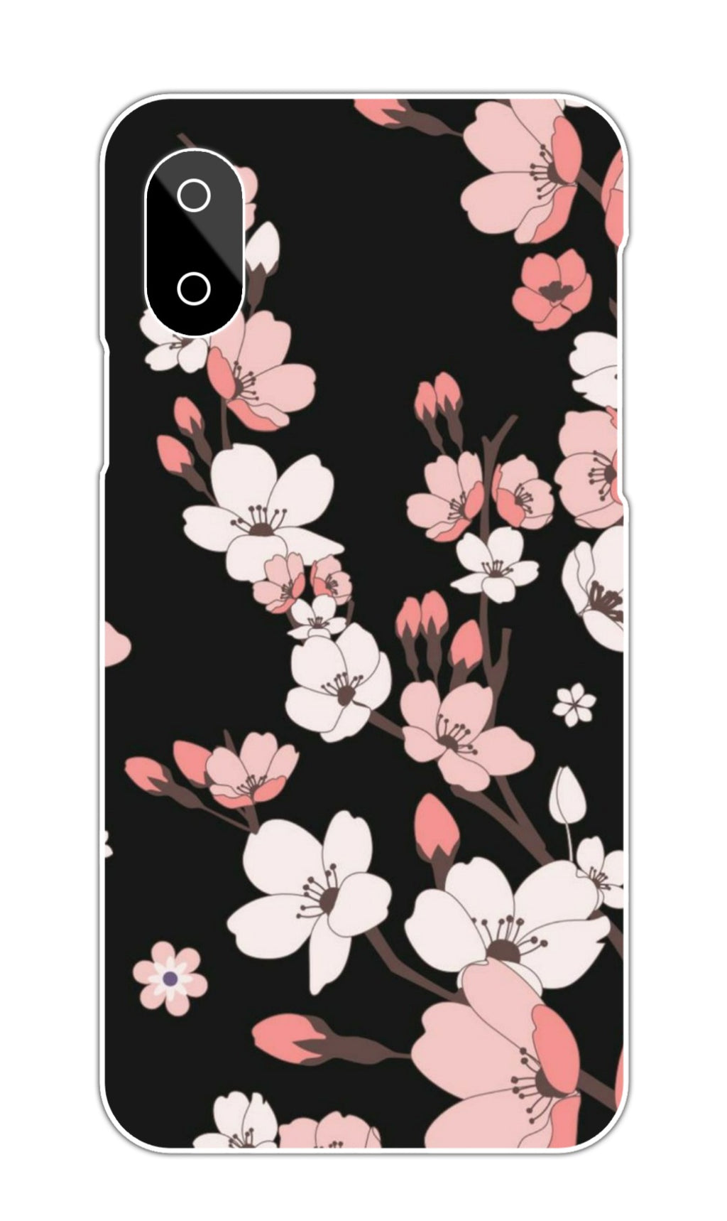 BLACK BACKGROUND FLORAL CASE