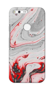 RED MARBLE WITH WHITE SWIRL