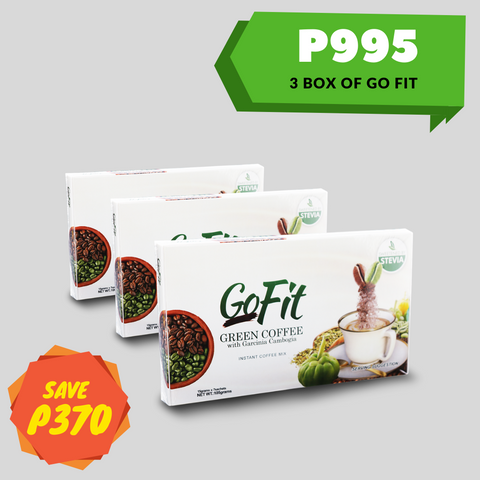 3 Box Go fit Green Coffee Mix