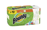 Bounty Floral Printed Full Sheet Paper Towels - 8 Giant Rolls