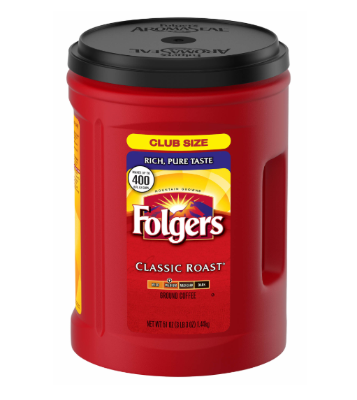 Folgers Classic Roast Coffee, 51 oz.