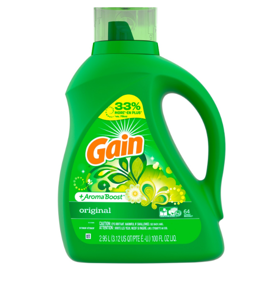 Gain + Aroma Boost Liquid Laundry Detergent, Original, 64 Loads 100 fl oz