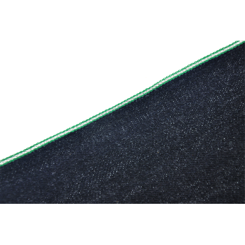 Deep Indigo Green Silver Selvedge