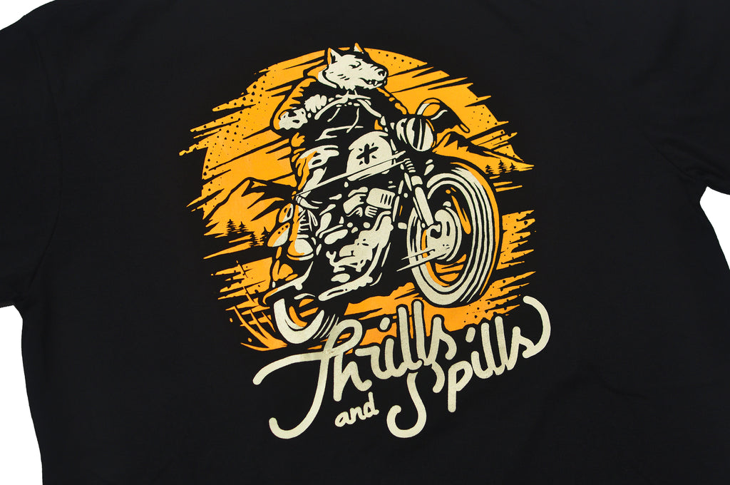 Thrills and Spills Tees Black