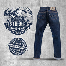Load image into Gallery viewer, Strider 16oz Unsanforized Deep Indigo