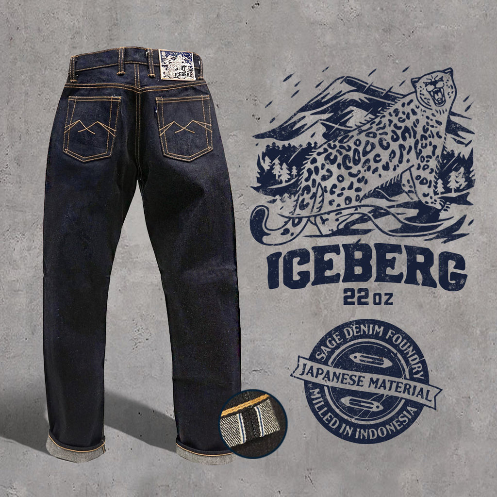 Iceberg 22oz Unsanforized Deep Indigo