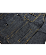 Load image into Gallery viewer, Canine Type III 14oz Deep Indigo Denim Trucker