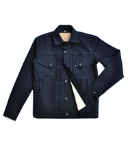 Load image into Gallery viewer, Canine Type II 14oz Indigo x Black Denim Jacket
