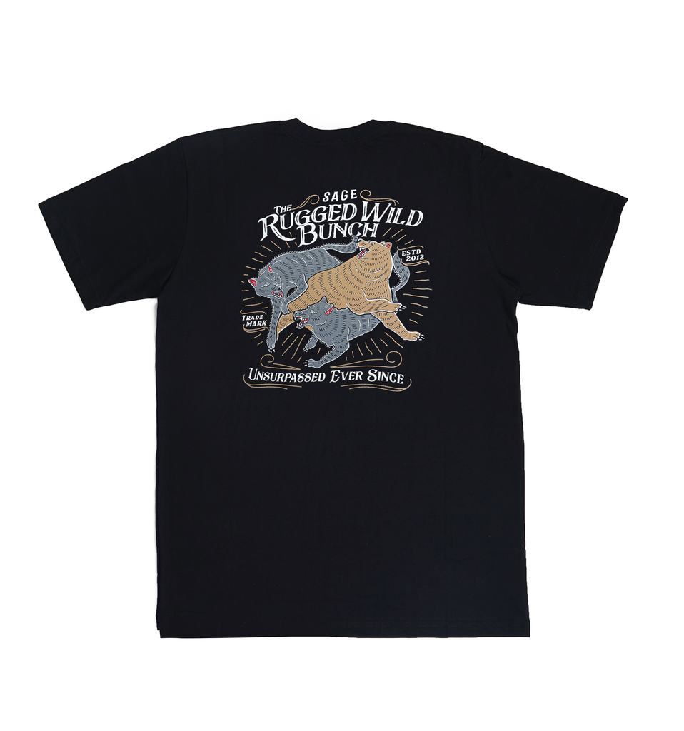Rugged Wild Bunch Black Tees
