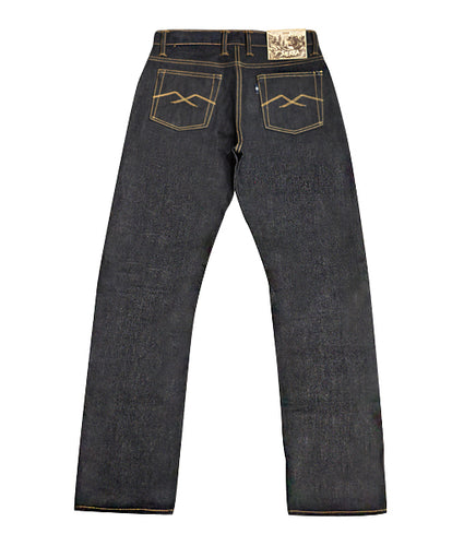 7th Anniversary Special : Sierra 18oz Unsanforized Deep Indigo x Brown Weft