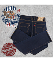 Load image into Gallery viewer, 8th Anniversary Special : Warlord 21oz Sanforized Extra Deep Indigo