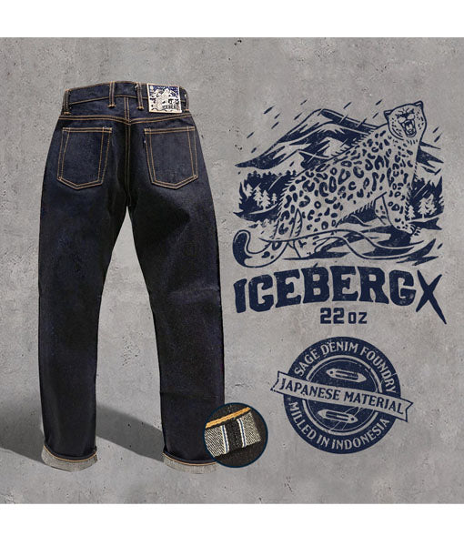 Iceberg X 22oz Unsanforized Deep Indigo