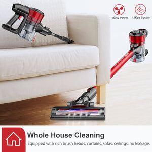 ONSON D18E Cordless Vacuum (Deep Red)